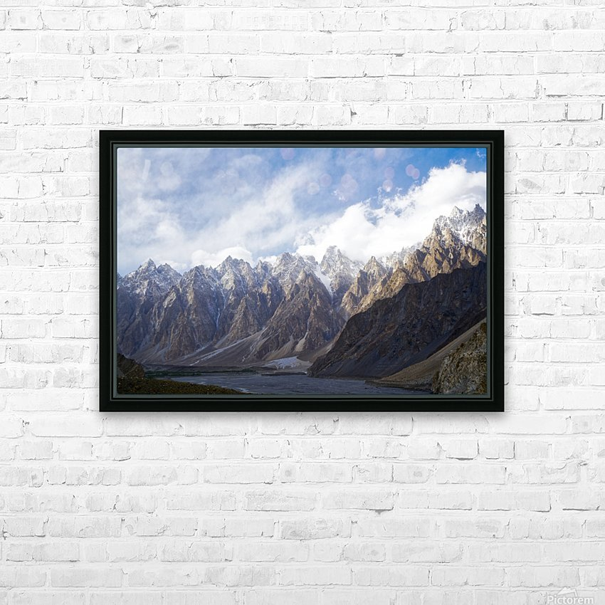 Passu Cathedral Ridge 2 HD Sublimation Metal print with Decorating Float Frame (BOX)