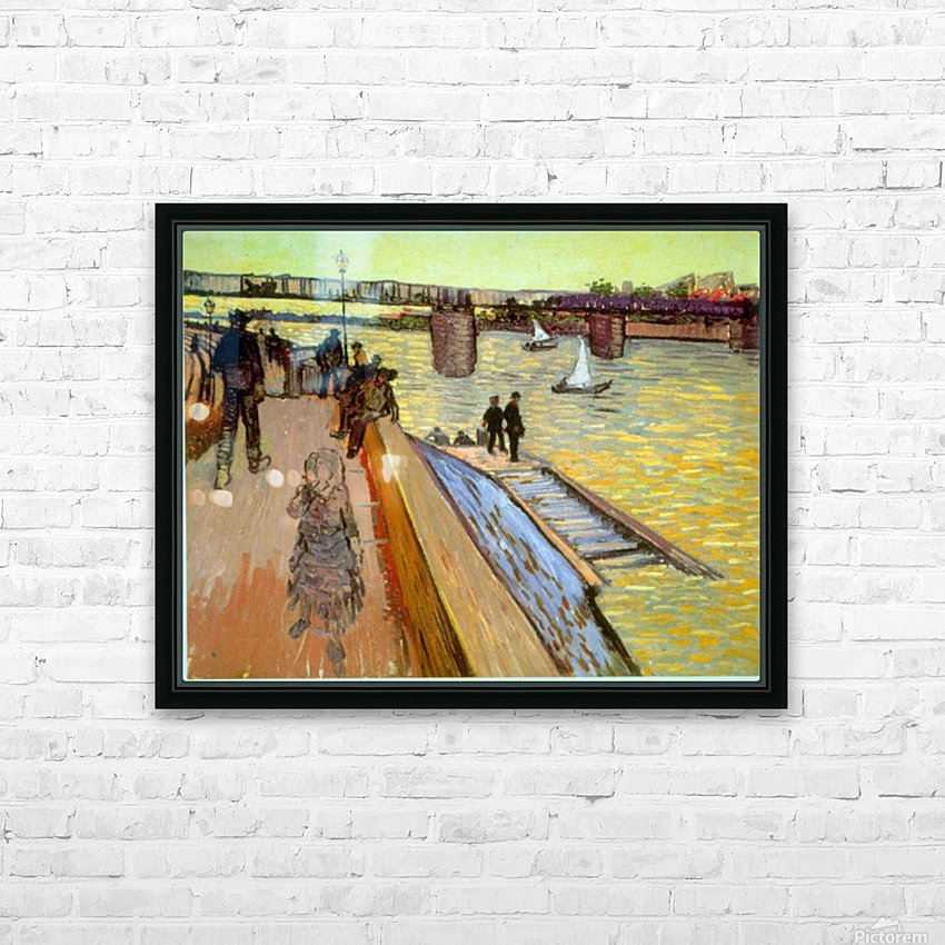 Bridge by Van Gogh HD Sublimation Metal print with Decorating Float Frame (BOX)