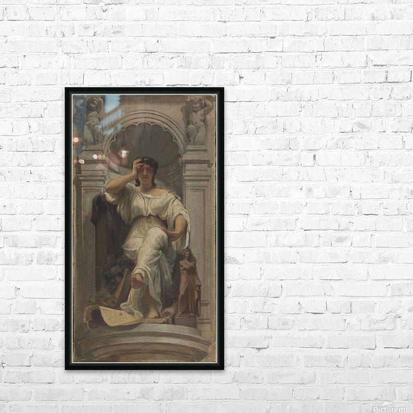 Esquisse pour la coupole du pavillon Denon au Louvre La pensee ou l architecture HD Sublimation Metal print with Decorating Float Frame (BOX)