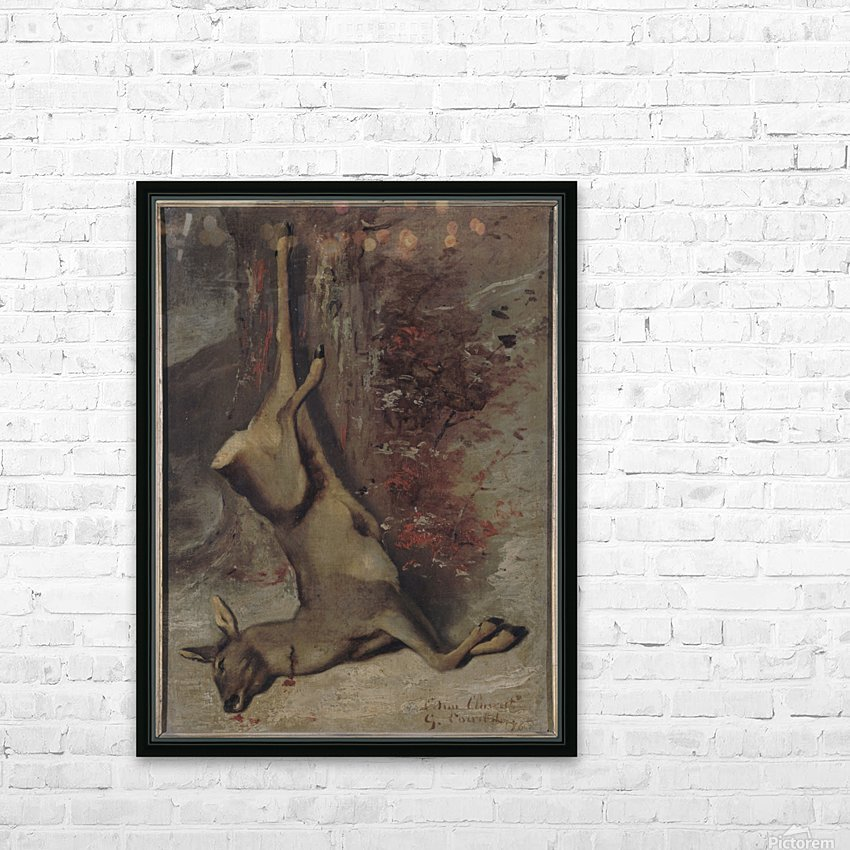 Le chevreuil HD Sublimation Metal print with Decorating Float Frame (BOX)