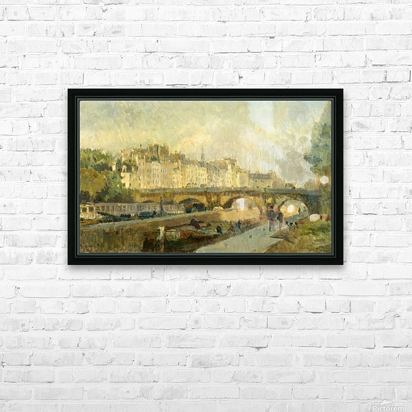 Le Pont Neuf HD Sublimation Metal print with Decorating Float Frame (BOX)