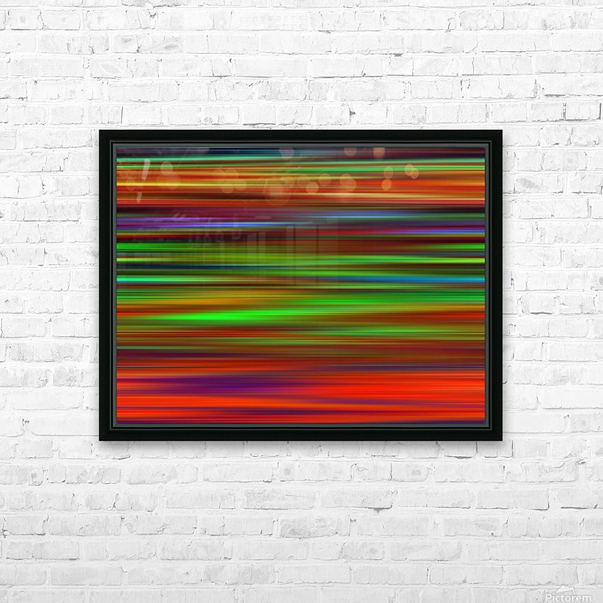 Colorful Lines HD Sublimation Metal print with Decorating Float Frame (BOX)
