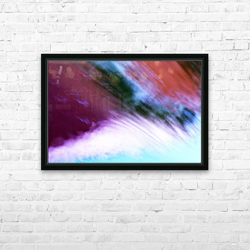 Water fall abstraction HD Sublimation Metal print with Decorating Float Frame (BOX)