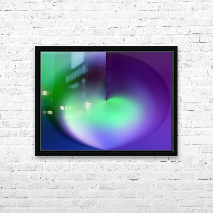 Heart Abstraction HD Sublimation Metal print with Decorating Float Frame (BOX)