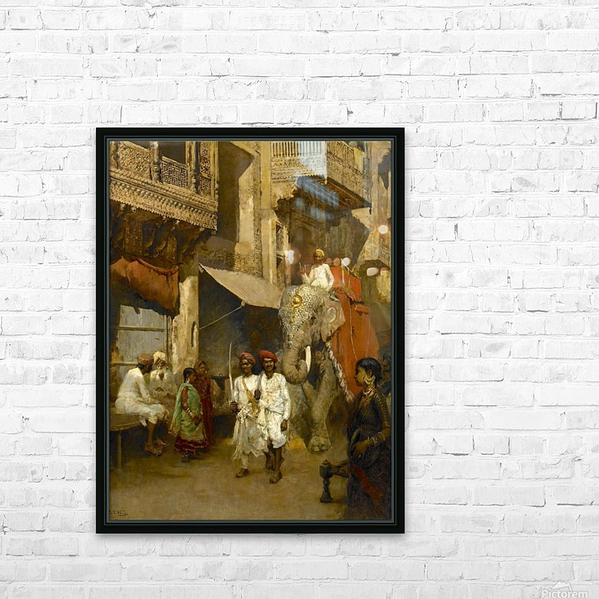 Promenade on an Indian Street HD Sublimation Metal print with Decorating Float Frame (BOX)