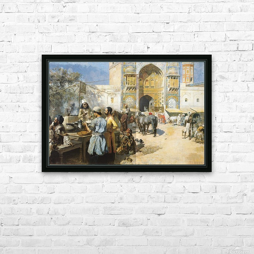 An Open-Air Restaurant Lahore - Edwin Lord Weeks - Canvas Artwork