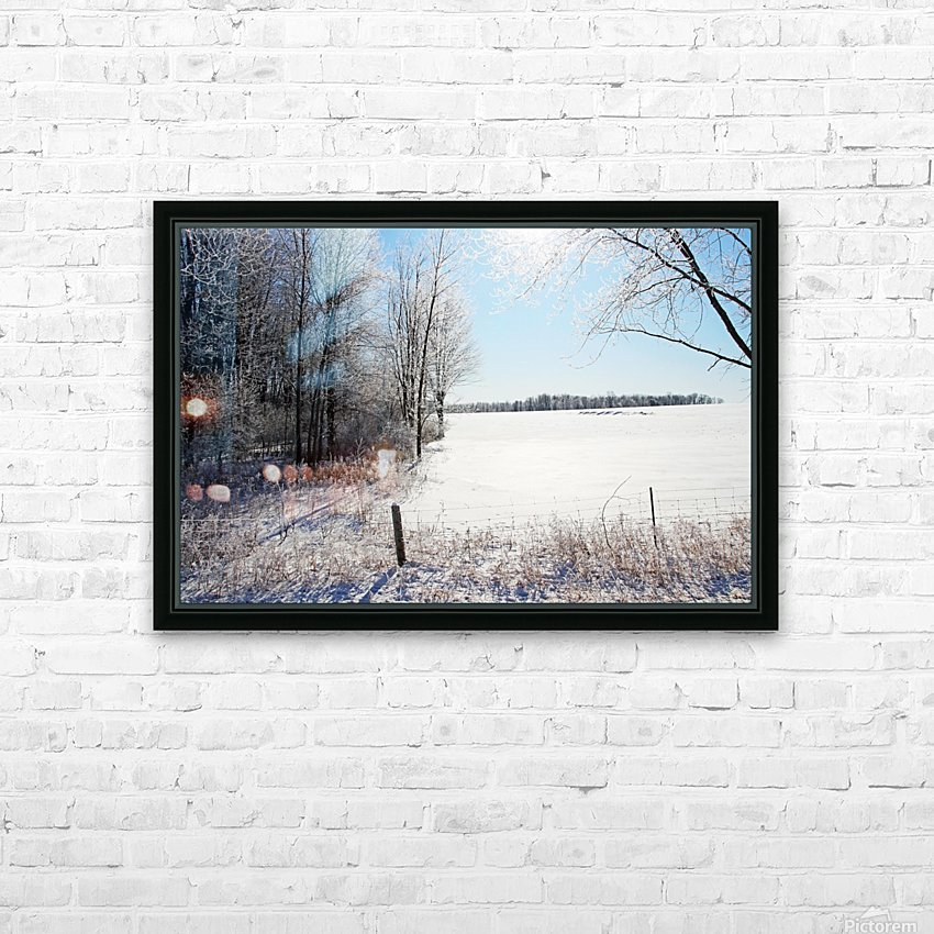 Frosty Winter Countryside I HD Sublimation Metal print with Decorating Float Frame (BOX)