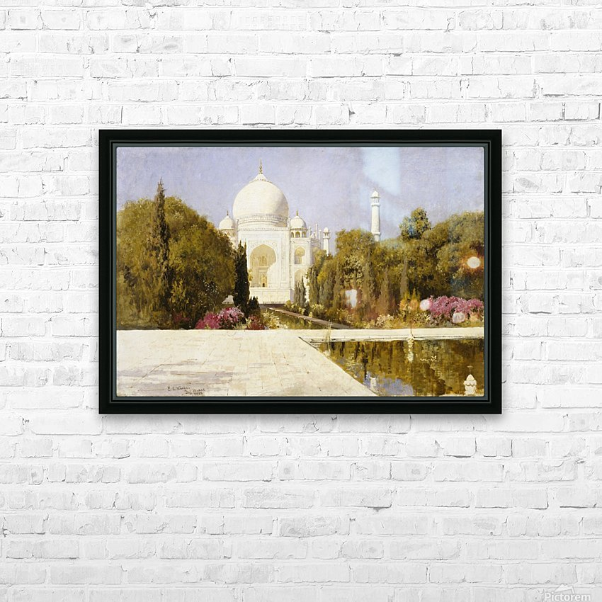 The Taj Mahal HD Sublimation Metal print with Decorating Float Frame (BOX)