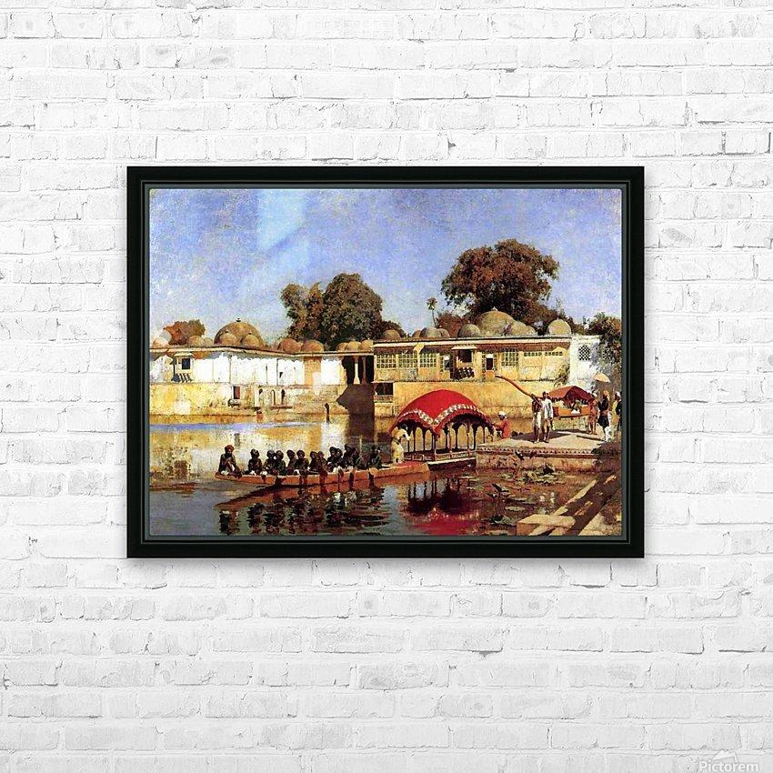 Palace and Lake at Sarket-Ahmedabad, India HD Sublimation Metal print with Decorating Float Frame (BOX)