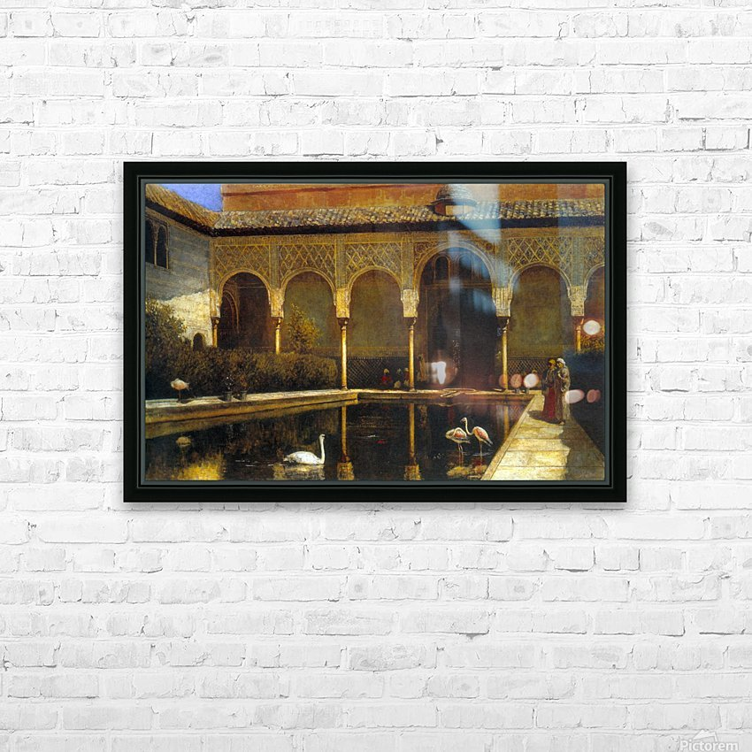 A Court in the Alhambra HD Sublimation Metal print with Decorating Float Frame (BOX)