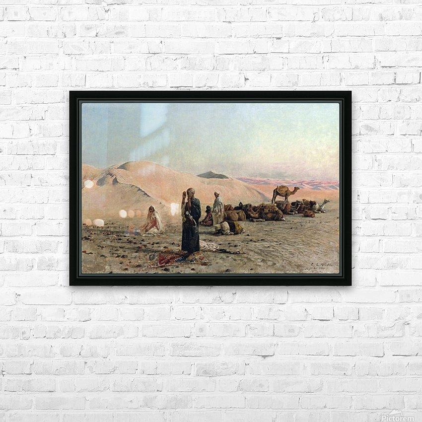 Desert Prayer HD Sublimation Metal print with Decorating Float Frame (BOX)