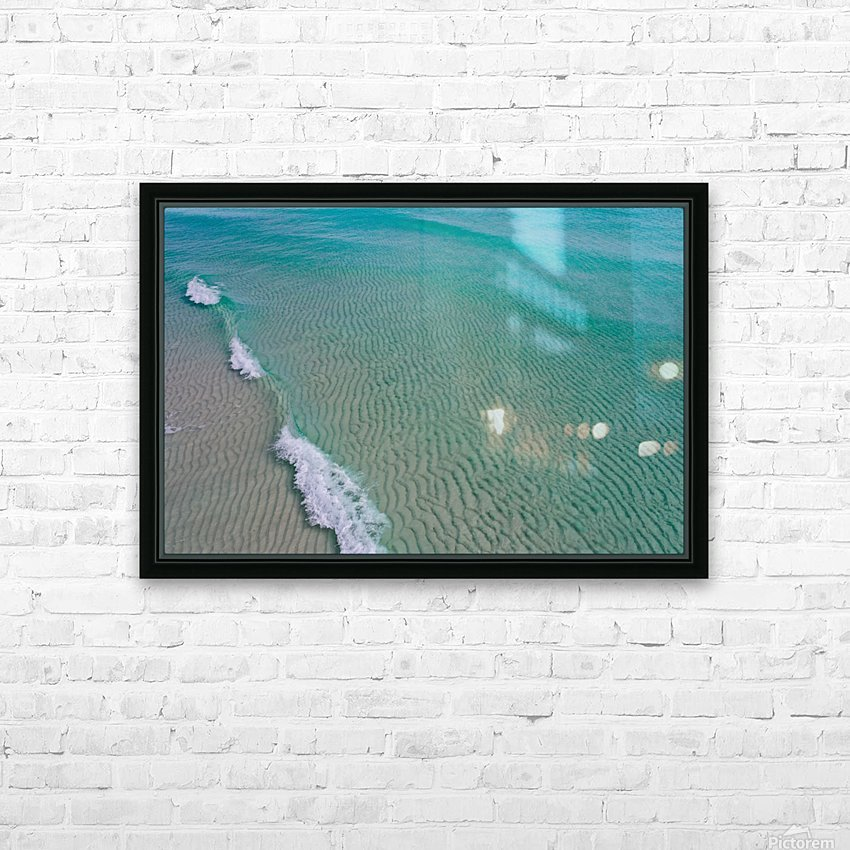 Clear Beach  HD Sublimation Metal print with Decorating Float Frame (BOX)