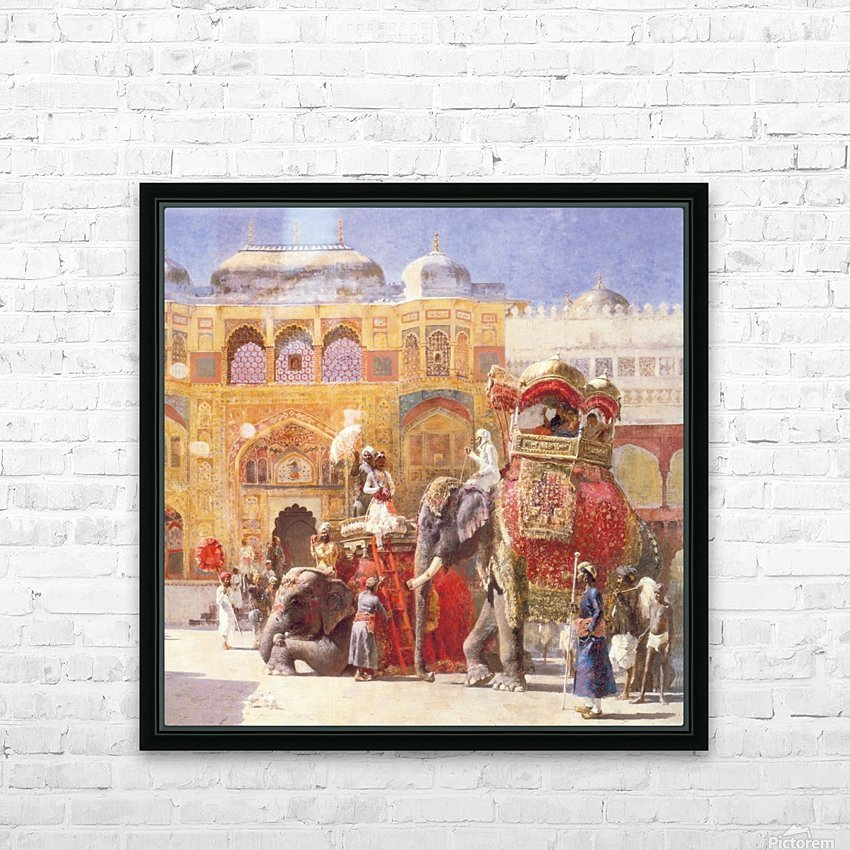 Arrival of Prince Humbert, the palace of Amber HD Sublimation Metal print with Decorating Float Frame (BOX)