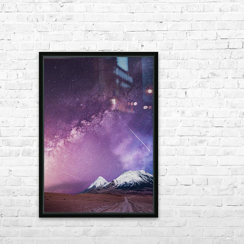 Milky Way Over The Volcano HD Sublimation Metal print with Decorating Float Frame (BOX)