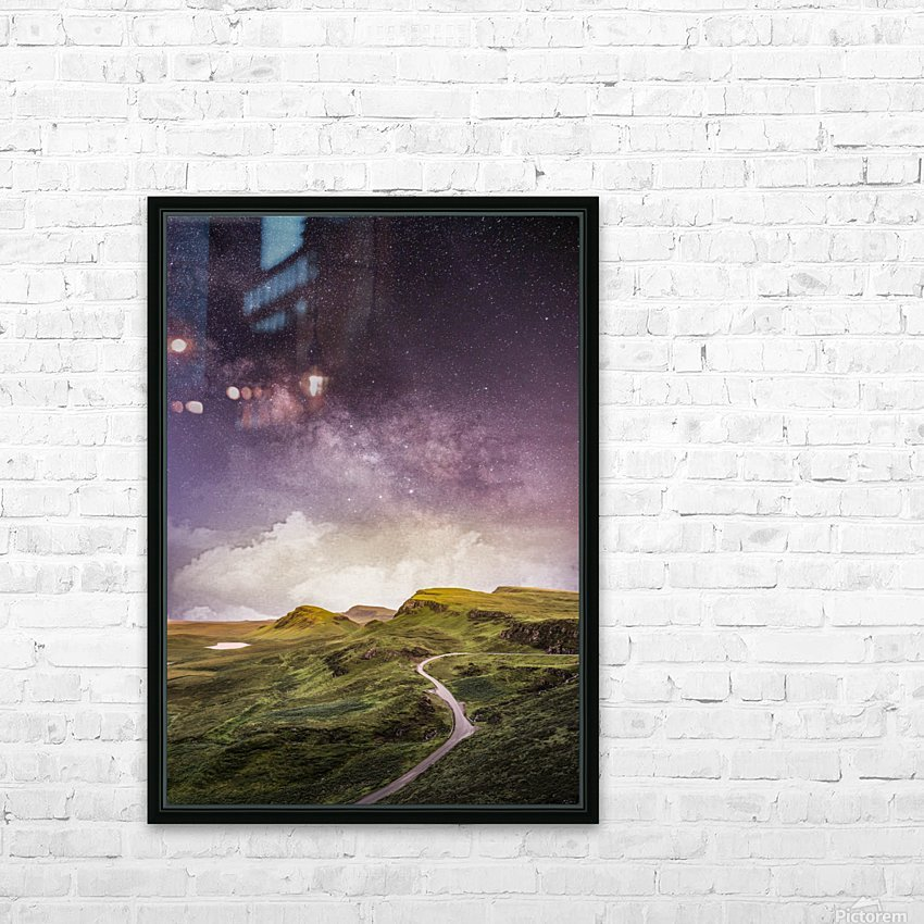Purple Milky Way And The Sunshine HD Sublimation Metal print with Decorating Float Frame (BOX)