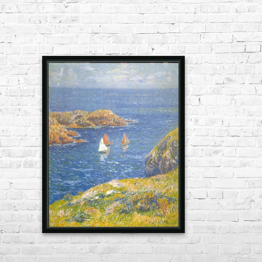 Calm Seas by Moret HD Sublimation Metal print with Decorating Float Frame (BOX)