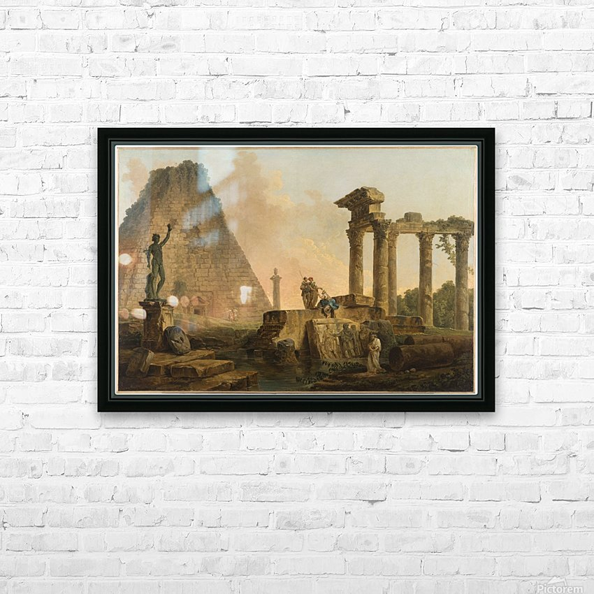 Ruines romaines HD Sublimation Metal print with Decorating Float Frame (BOX)