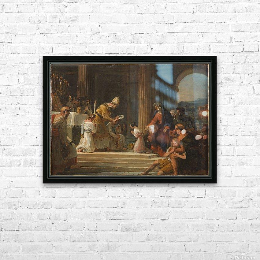 Esquisse pour l eglise Notre Dame de Lorette Consecration de la Vierge HD Sublimation Metal print with Decorating Float Frame (BOX)
