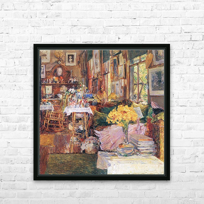 The room of flowers by Hassam HD Sublimation Metal print with Decorating Float Frame (BOX)