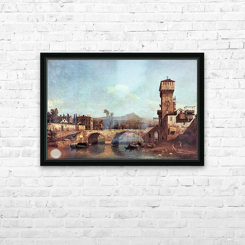 Capriccio Veneto by Canaletto HD Sublimation Metal print with Decorating Float Frame (BOX)