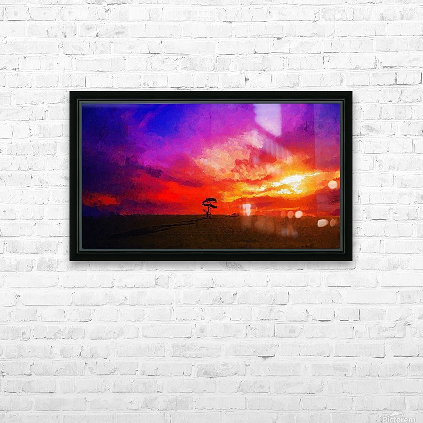 Last Sunset HD Sublimation Metal print with Decorating Float Frame (BOX)