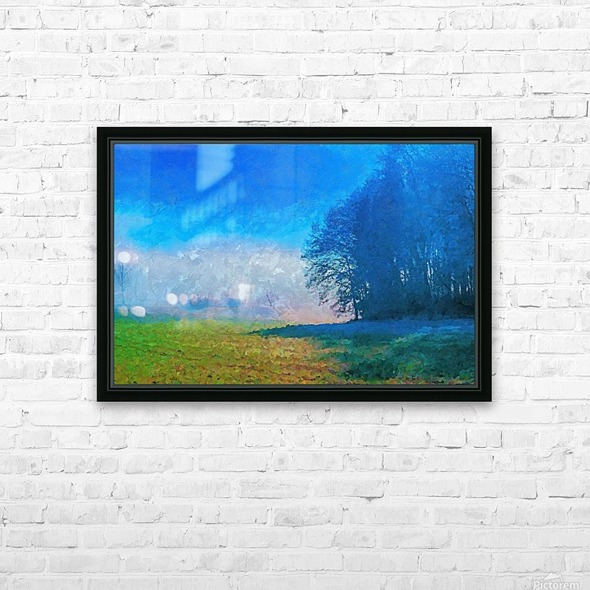Smoky Mountain HD Sublimation Metal print with Decorating Float Frame (BOX)