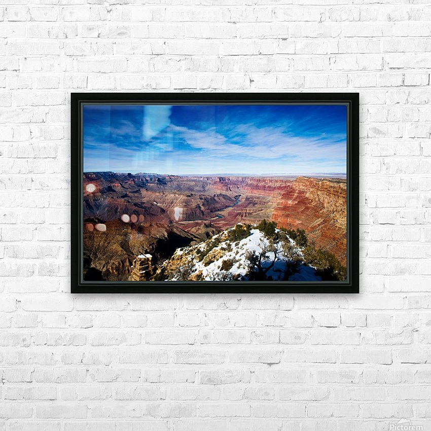 Grand Canyon HD Sublimation Metal print with Decorating Float Frame (BOX)