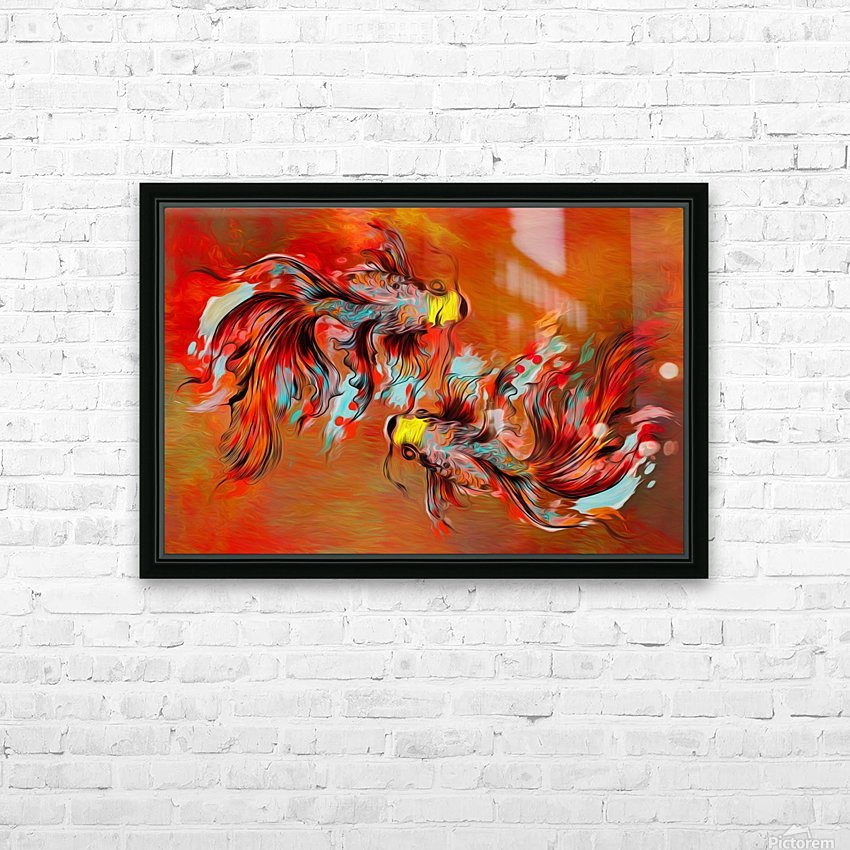 The Betta Tango HD Sublimation Metal print with Decorating Float Frame (BOX)