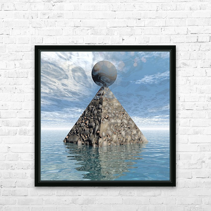 Alien City HD Sublimation Metal print with Decorating Float Frame (BOX)