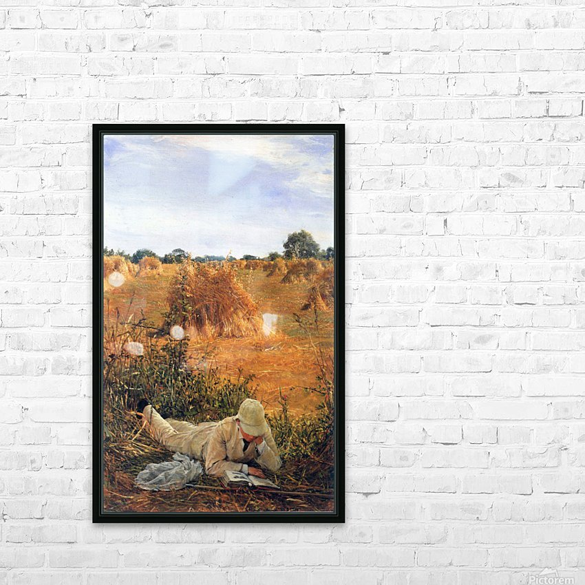 94 degrees in the shade by Alma-Tadema HD Sublimation Metal print with Decorating Float Frame (BOX)