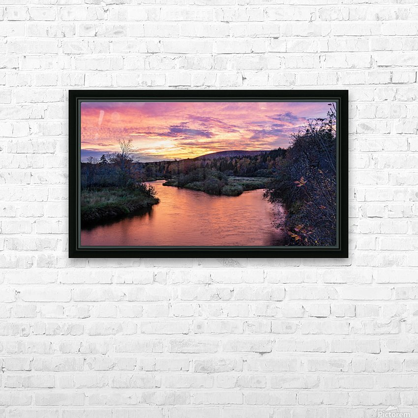 Early morning on the Margaree river  HD Sublimation Metal print with Decorating Float Frame (BOX)