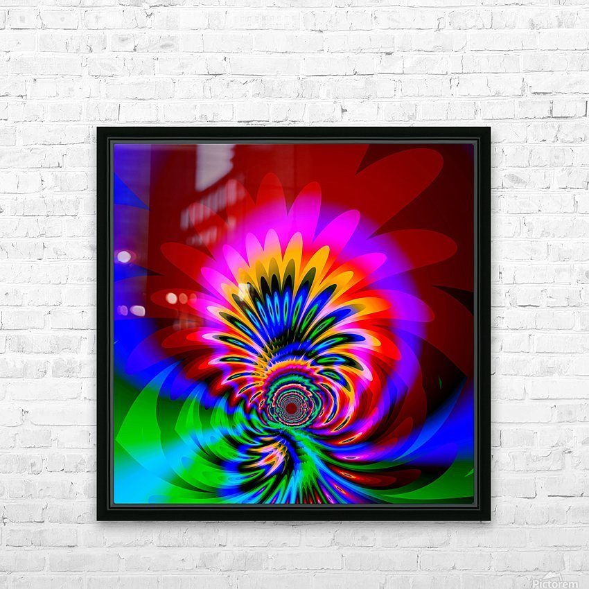 Psychedelic_Flower_series_3 HD Sublimation Metal print with Decorating Float Frame (BOX)