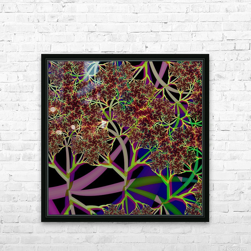 Fractal_Vegetation_Theme HD Sublimation Metal print with Decorating Float Frame (BOX)