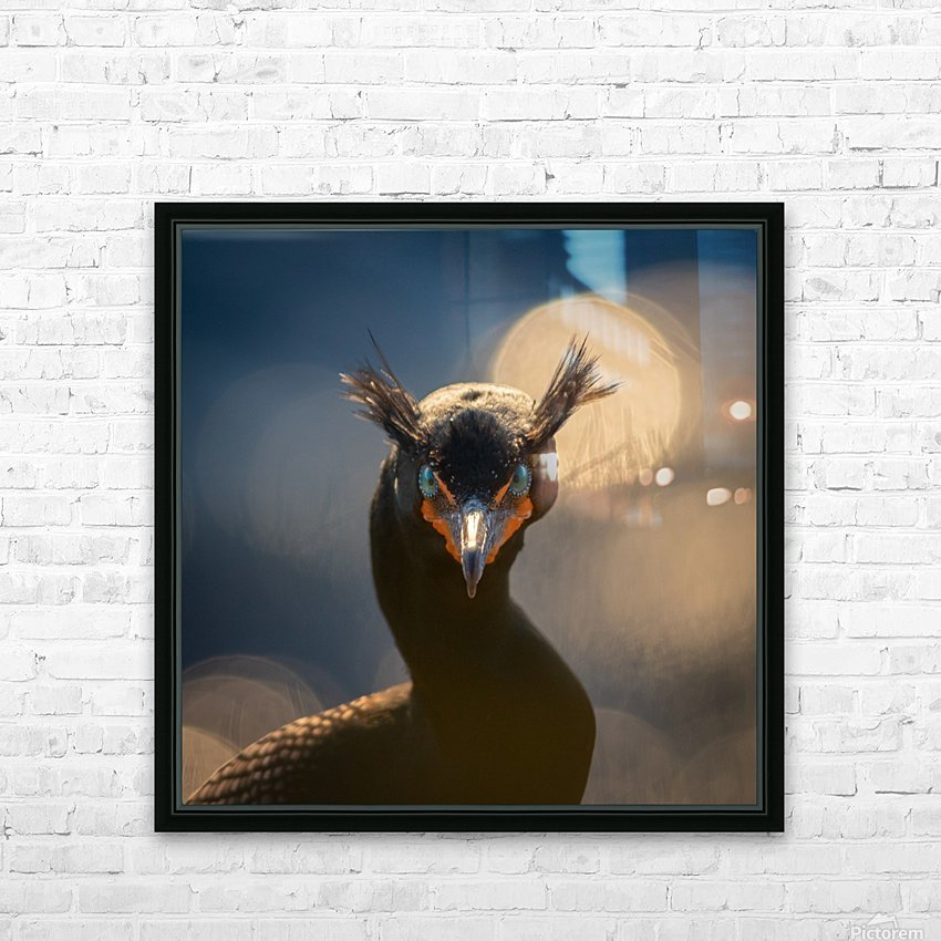 A stern look HD Sublimation Metal print with Decorating Float Frame (BOX)