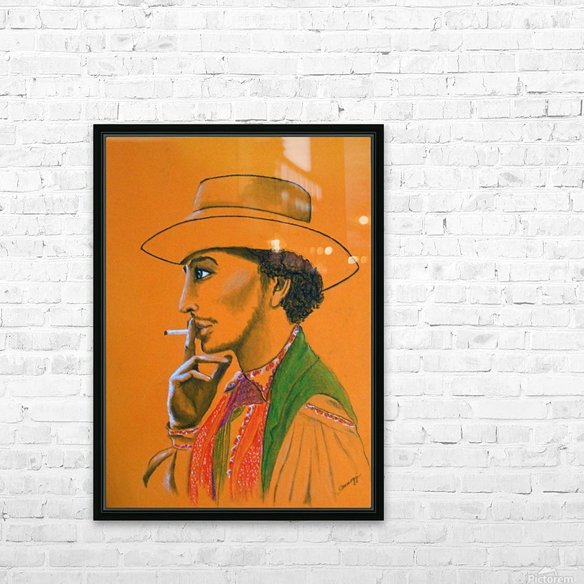 Gypsy Man HD Sublimation Metal print with Decorating Float Frame (BOX)