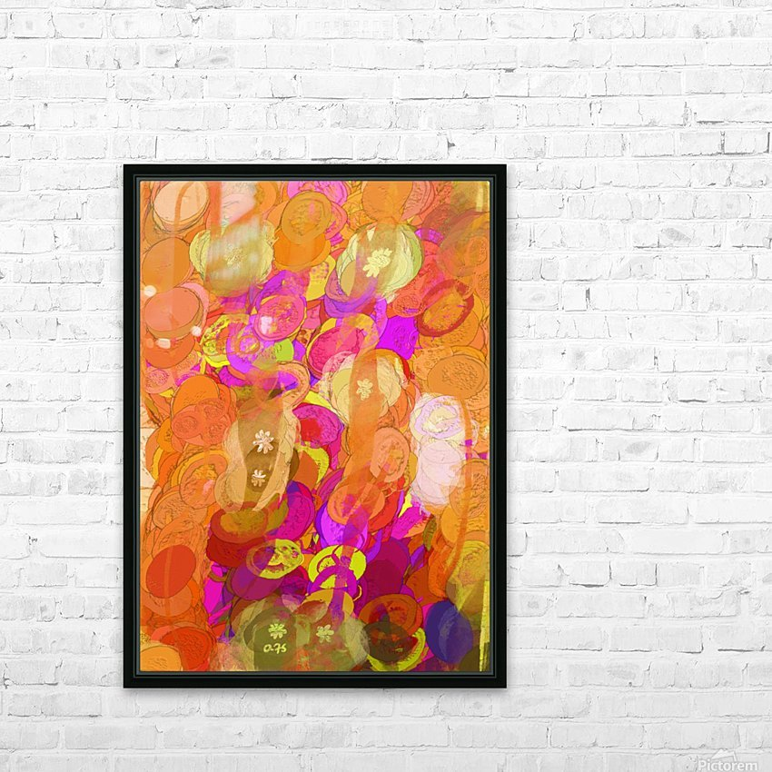 Pink and orange HD Sublimation Metal print with Decorating Float Frame (BOX)