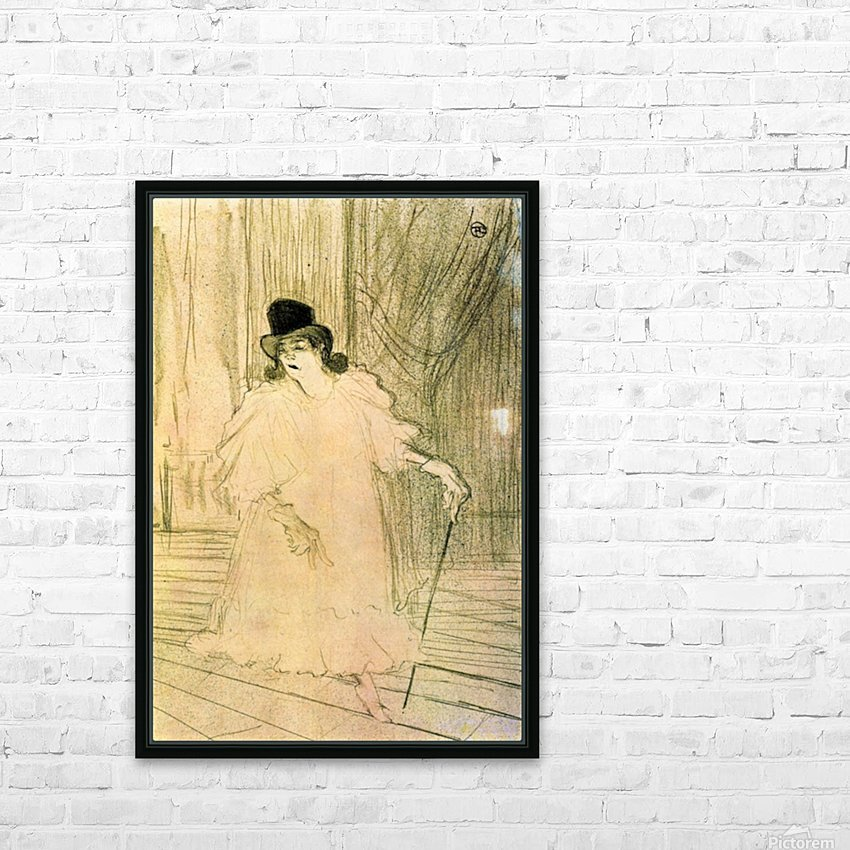 Cecy Loftus by Toulouse-Lautrec HD Sublimation Metal print with Decorating Float Frame (BOX)