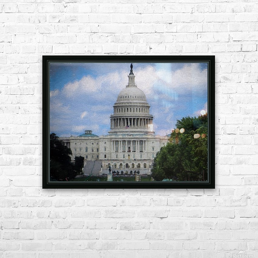 US Capital Building HD Sublimation Metal print with Decorating Float Frame (BOX)