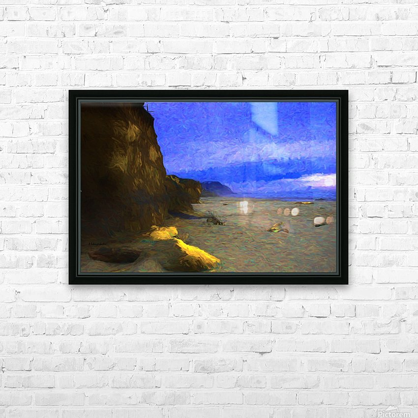 Yachats Beach Painting HD Sublimation Metal print with Decorating Float Frame (BOX)
