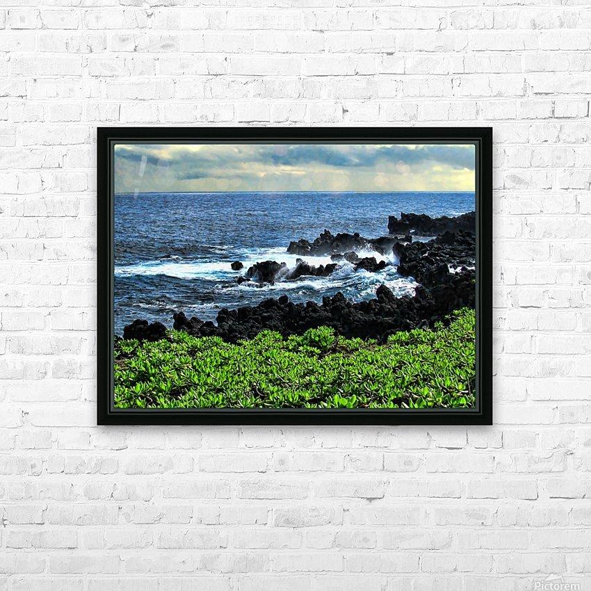 Hana Beach Hawaii HD Sublimation Metal print with Decorating Float Frame (BOX)