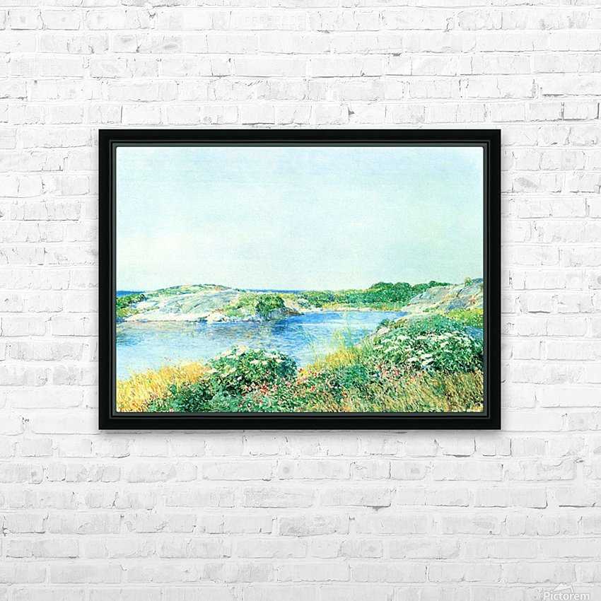 The small pond by Hassam HD Sublimation Metal print with Decorating Float Frame (BOX)