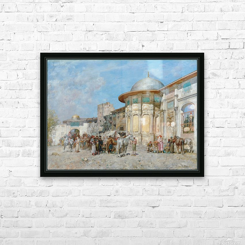 Horse market, Syria HD Sublimation Metal print with Decorating Float Frame (BOX)