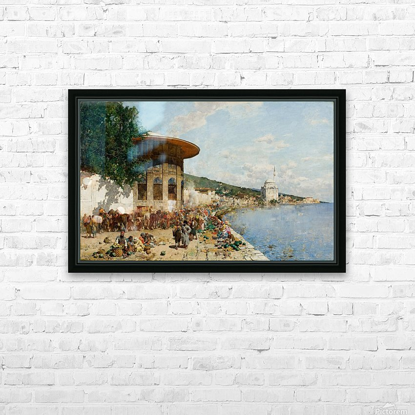 Market Day in Constantinople HD Sublimation Metal print with Decorating Float Frame (BOX)