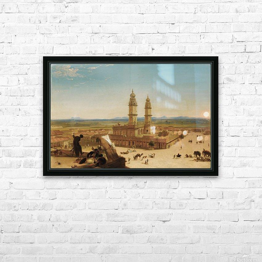 Oriental landscape HD Sublimation Metal print with Decorating Float Frame (BOX)