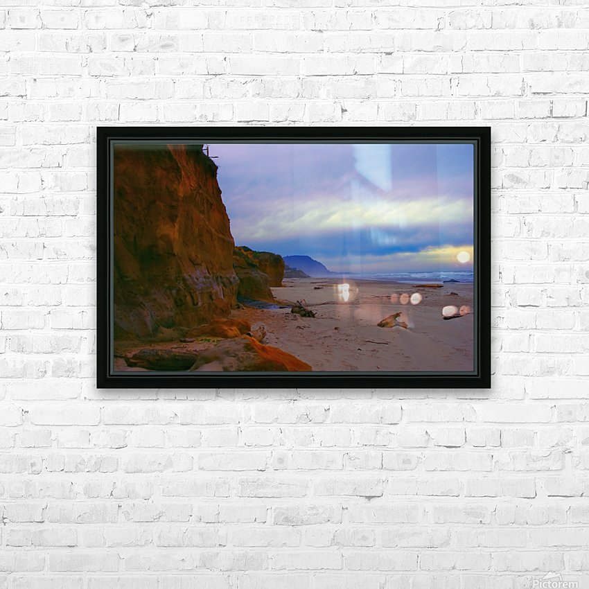 At the Coast HD Sublimation Metal print with Decorating Float Frame (BOX)