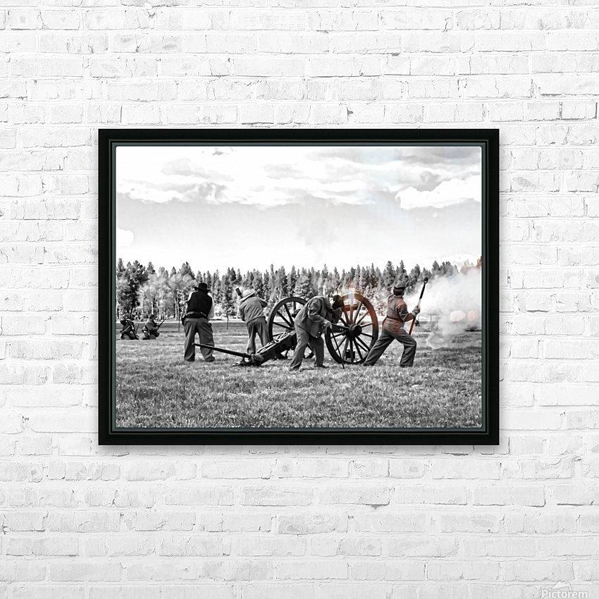 U. S. Civil War Re-enactment HD Sublimation Metal print with Decorating Float Frame (BOX)
