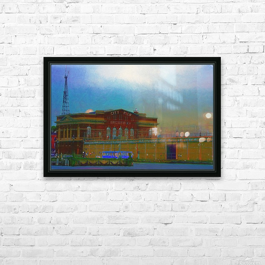 Baltimore Port Maryland  HD Sublimation Metal print with Decorating Float Frame (BOX)