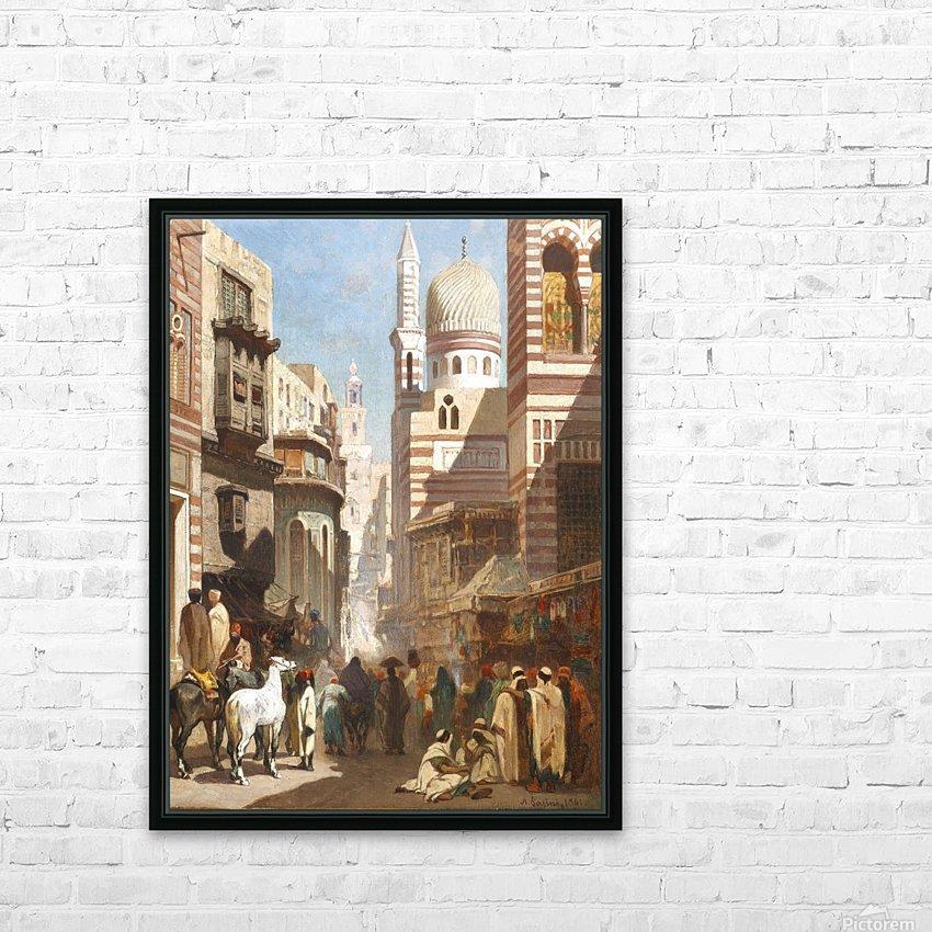 Al-Khudayri street, Cairo HD Sublimation Metal print with Decorating Float Frame (BOX)