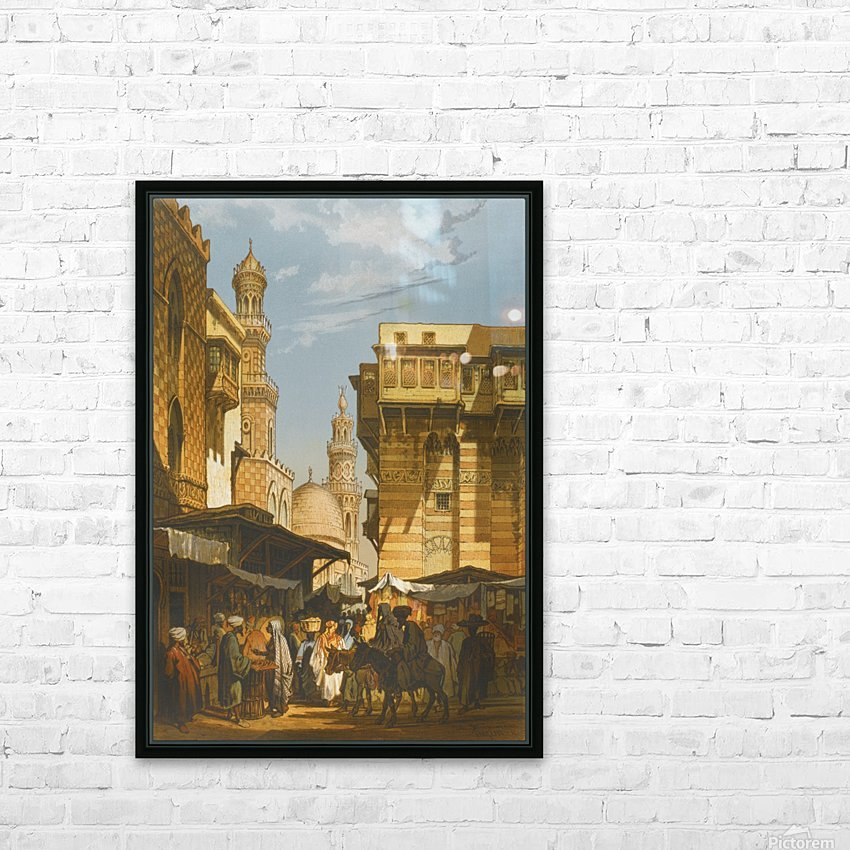 Market in Istanbul HD Sublimation Metal print with Decorating Float Frame (BOX)