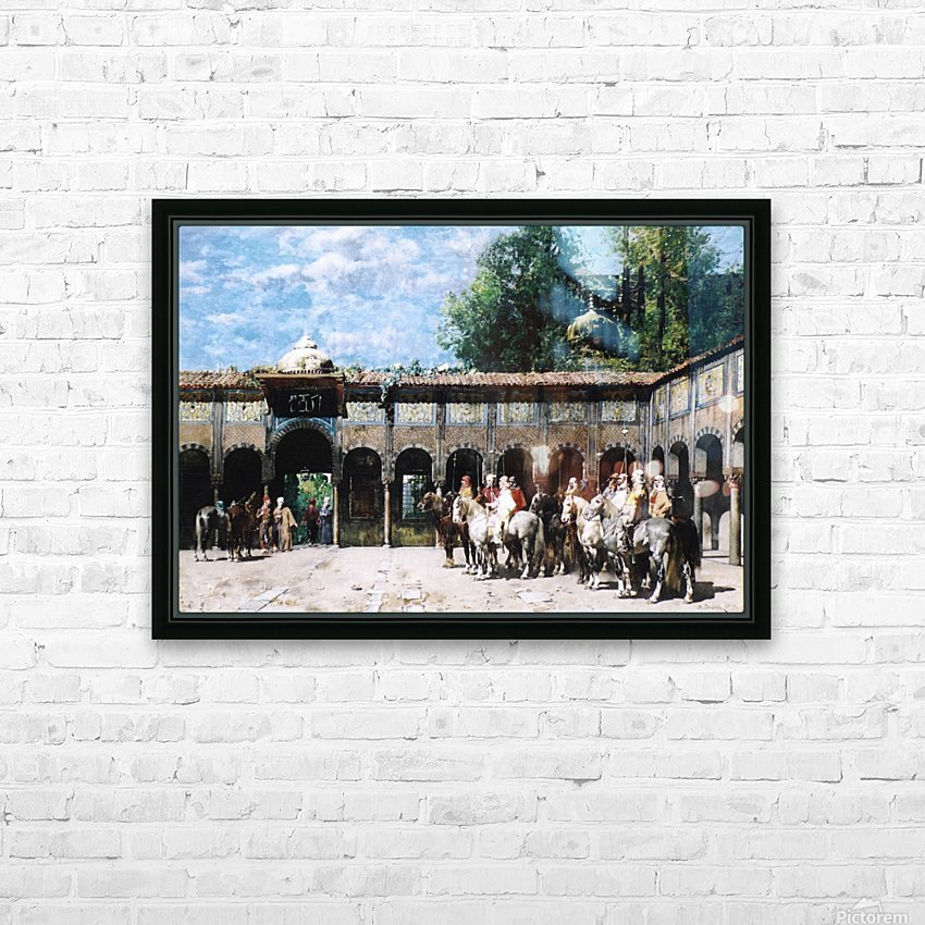 Cavalieri Circassi Che Aspettano Il Loro Capo HD Sublimation Metal print with Decorating Float Frame (BOX)